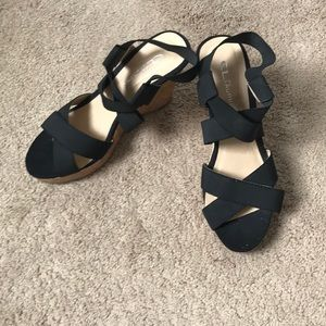 CL by Laundry Stretch Strap Wedges